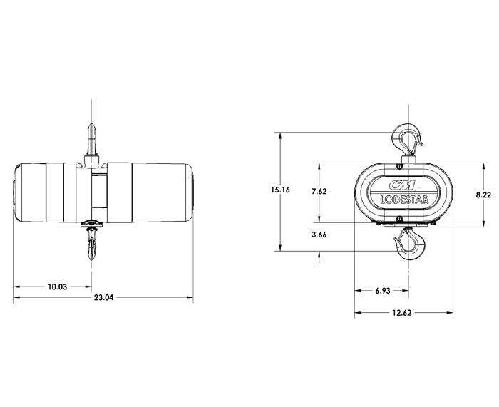 cm lodestar u00ae variable speed chain hoist